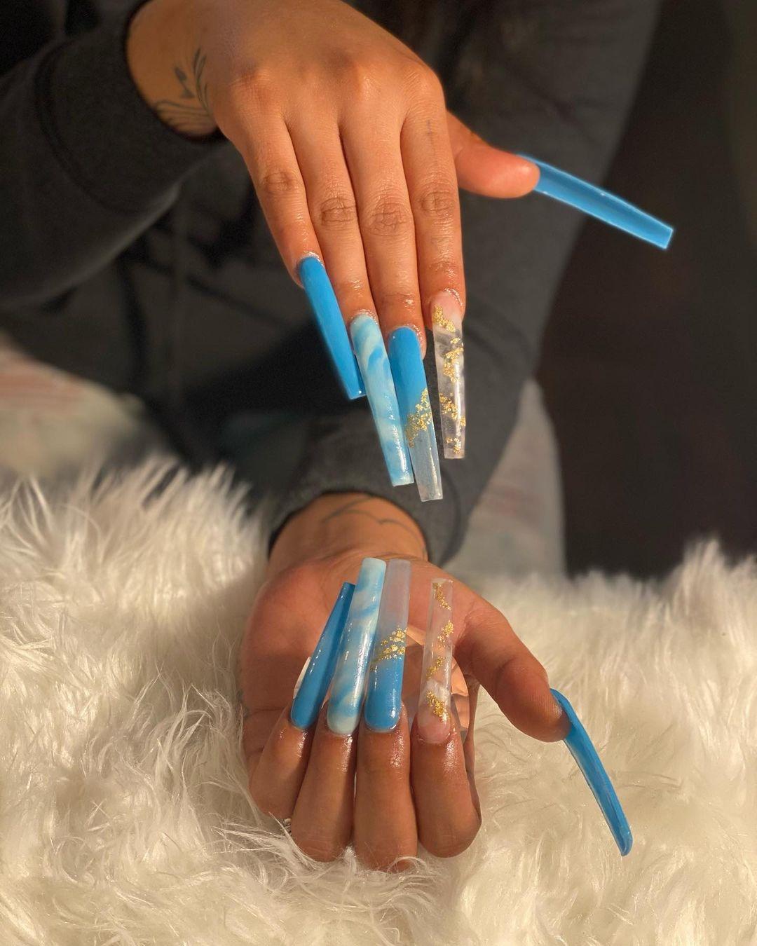 """Hình ảnh những bộ nails siêu dài độc và lạ dành cho """"dân chơi"""""""
