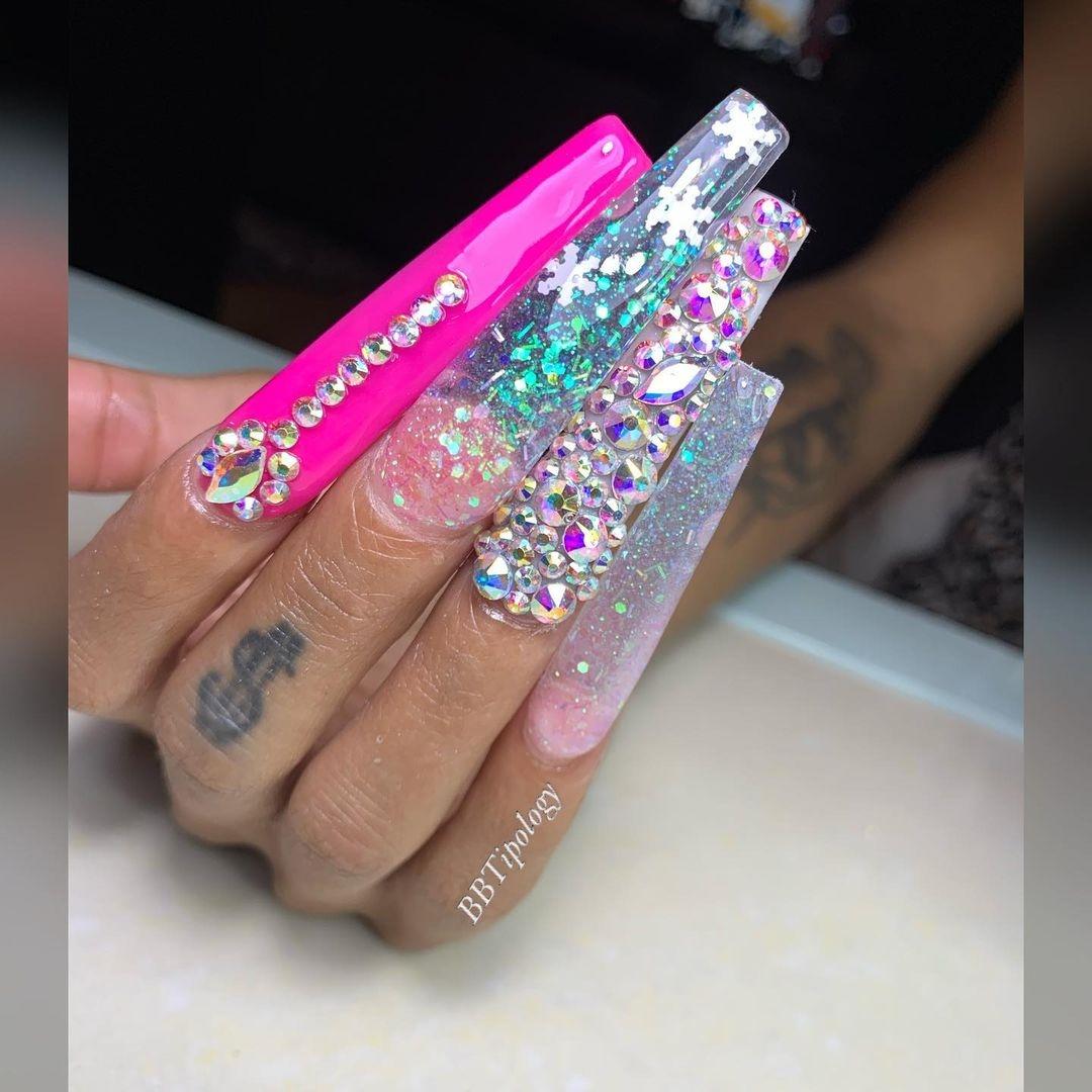 Hình ảnh miễn phí bộ nails móng dài nghệ thuật đẹp tuyệt vời - free image super long extra long stiletto tips free download 2020 May 04